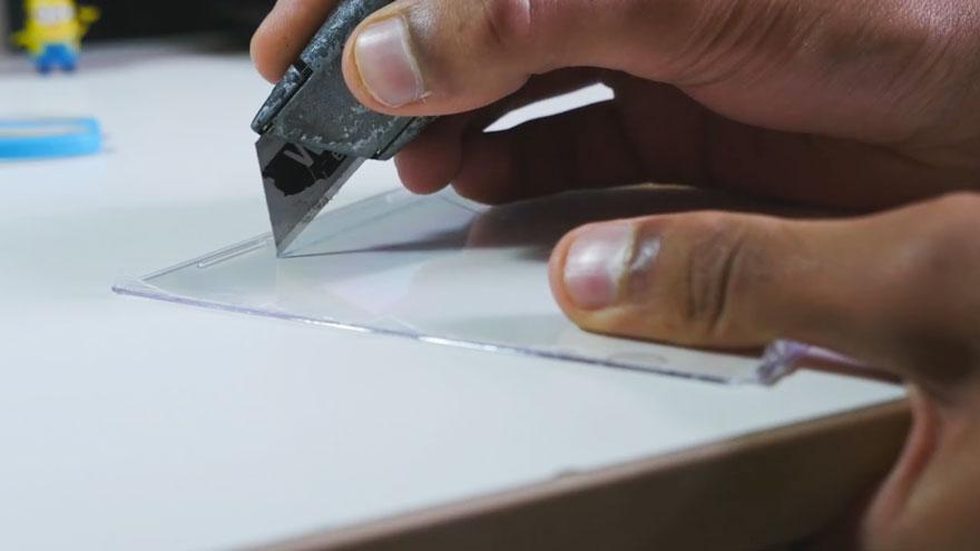 Голограмма на смартфоне своими руками 14