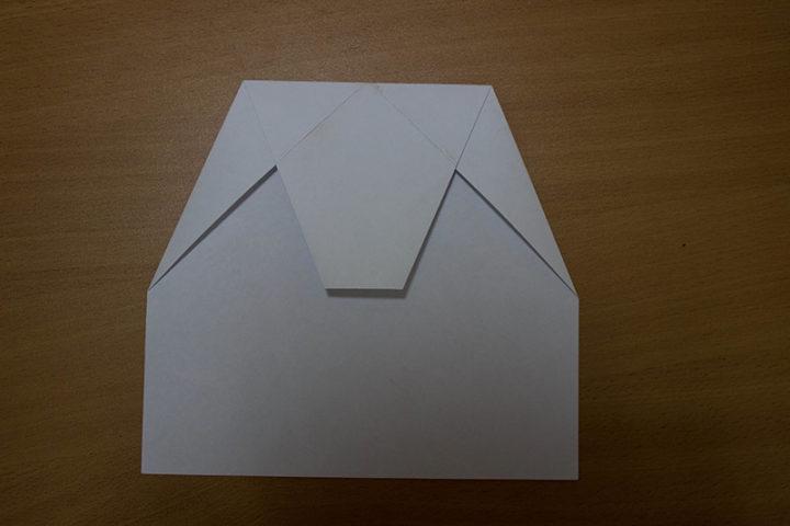 бумажный самолет схема
