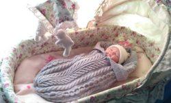 Вязаный подарок на рождение ребенка