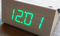 Настольные часы с постоянной ночной подсветкой с AliExpress