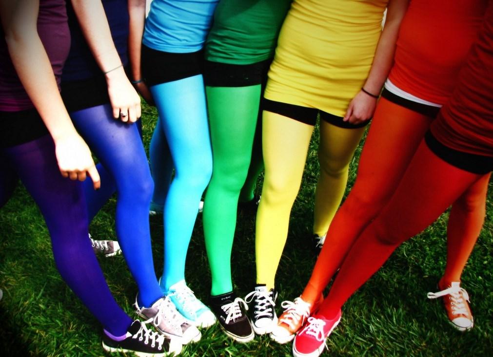 Цветные колготы