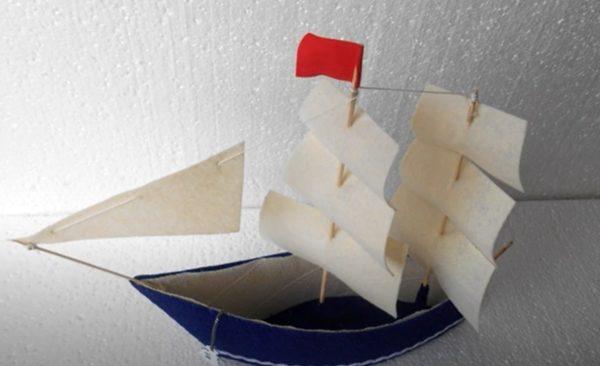 прикрепляем парус к кораблю