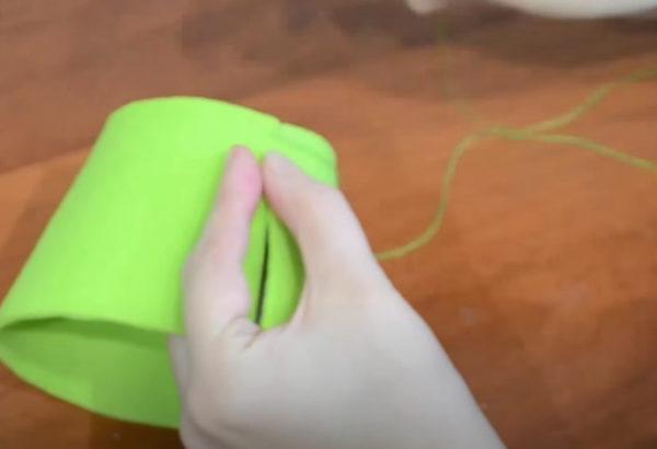Бортики корзинки сшиваем