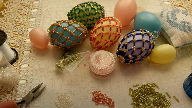 яйца на Пасху из бисера